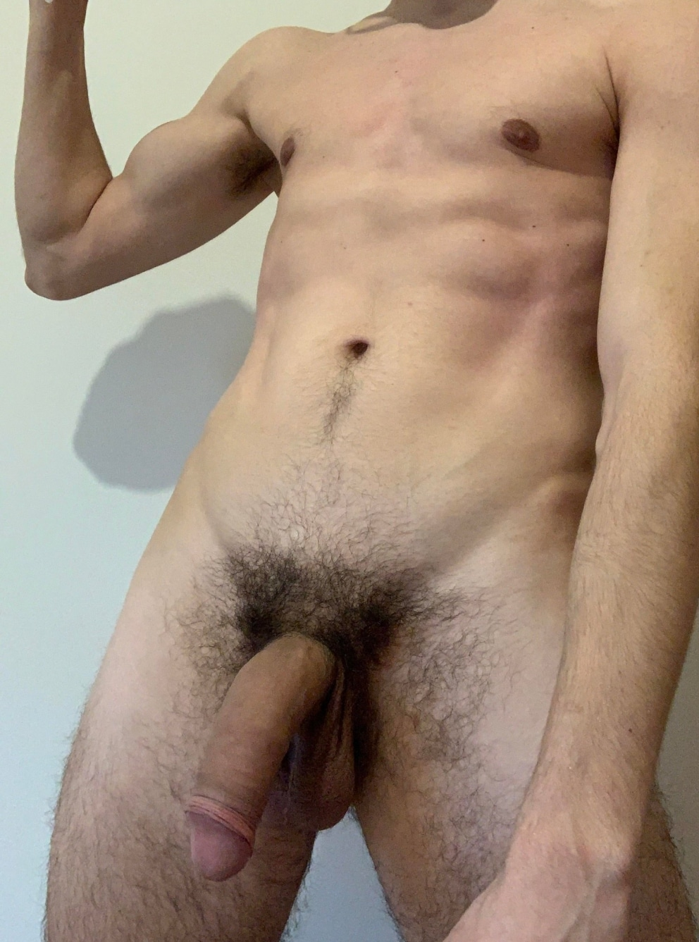 Hairy cock with shaved balls