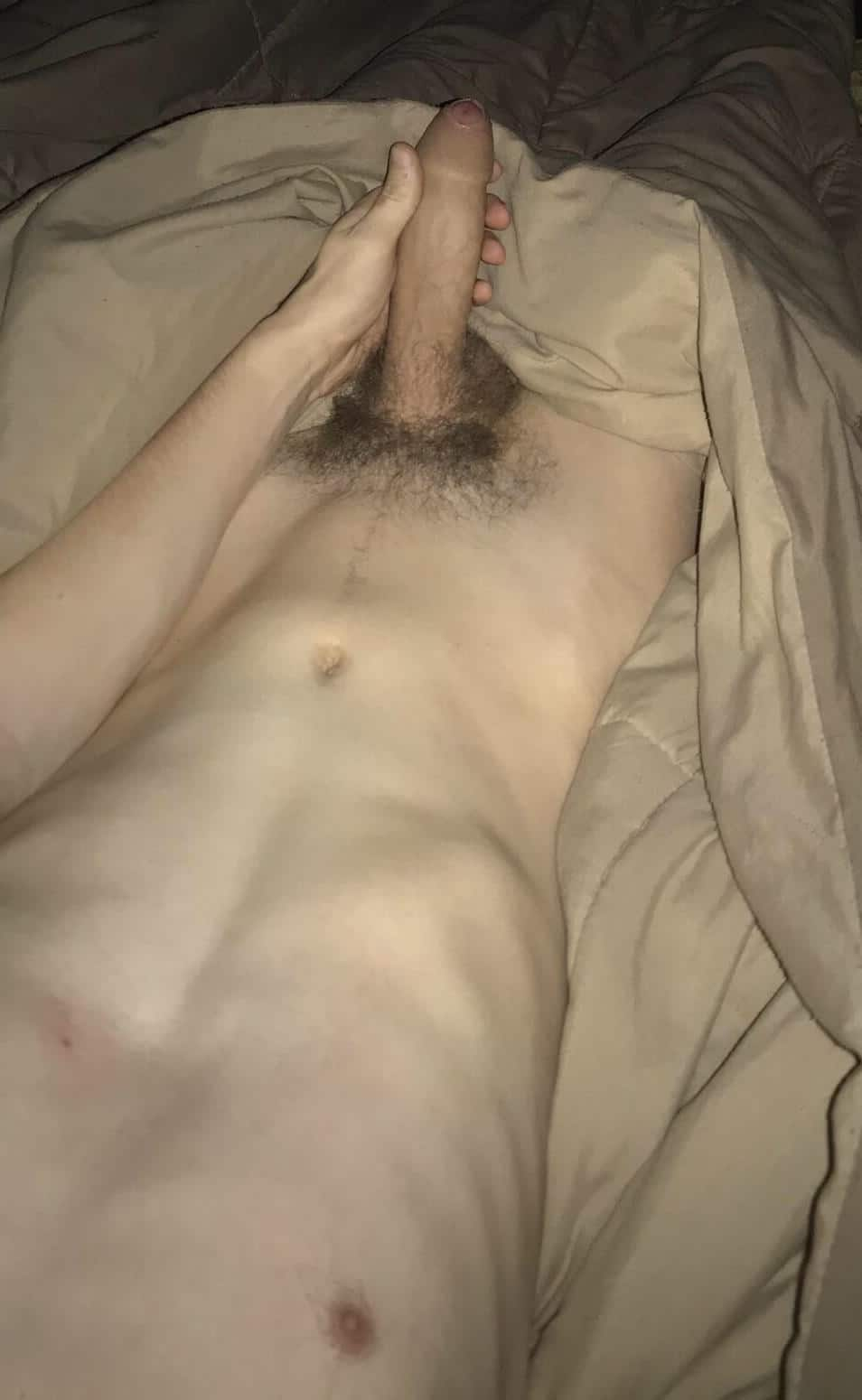 Hung nude boy in bed