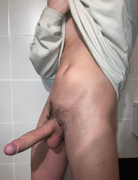 Long cock with black pubes