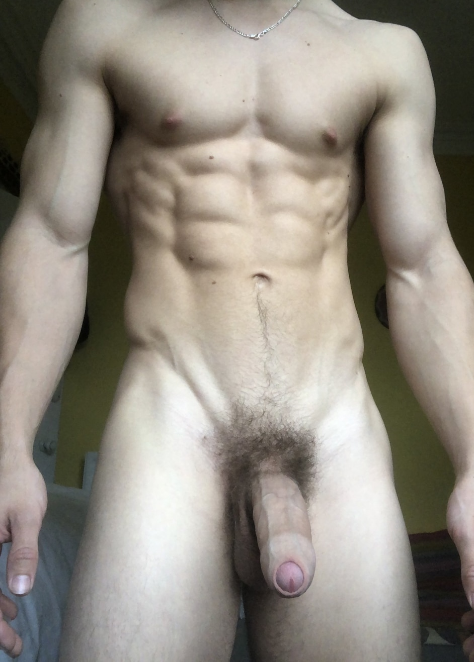 Muscle boy with a big cock