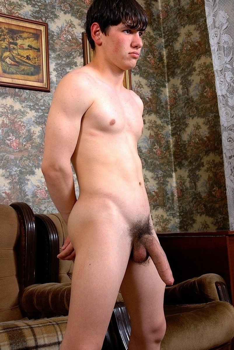 Naked boy with monstercock